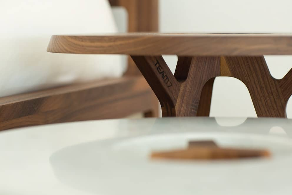 Table Dappoint Treeo Ronde Bois Marbre Design Lyon Table Dappoint