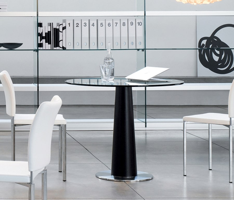 Table design ronde upside gallotti radice mobilier - Table ronde design pied central ...