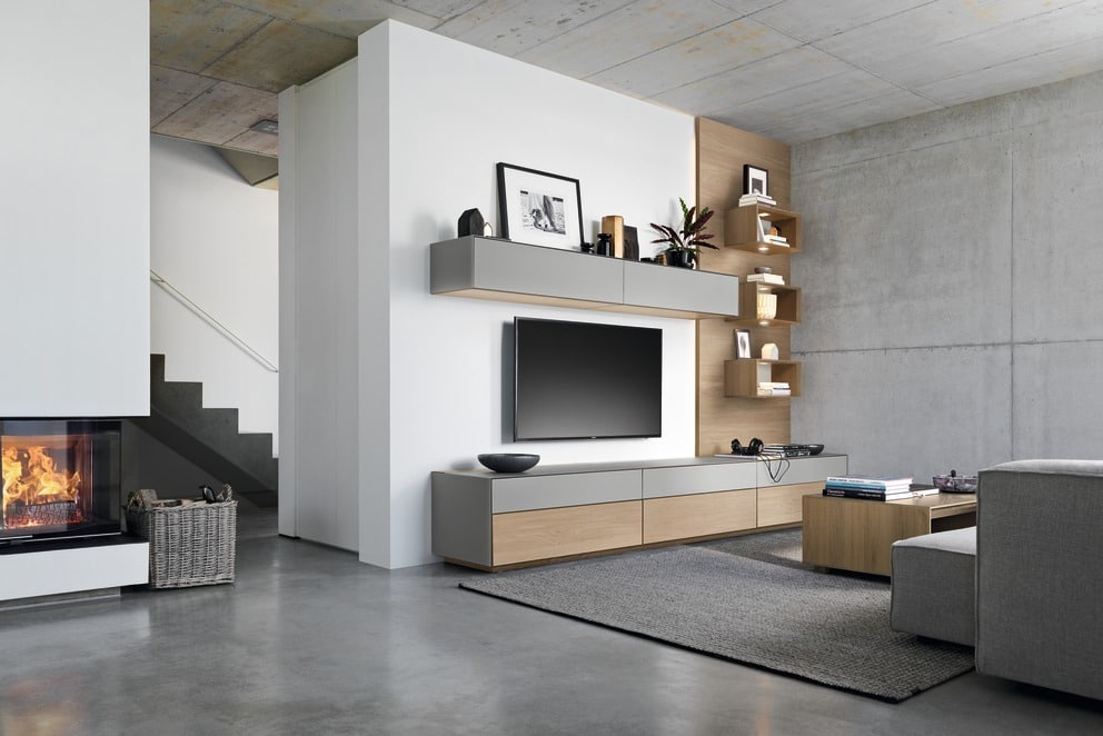 meuble tv design contemporain bois